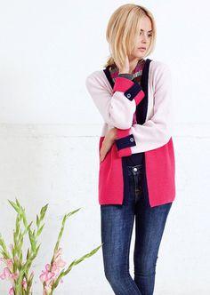 Annika Cardigan in MillaMia Merino Wool - download the pattern from LoveKnitting!