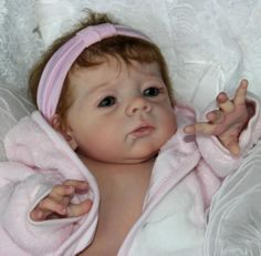 reborn baby girl karlotta karola wegerich golden brown hair ash green eyes flutterby hearts reborns Tamara auty reborn baby