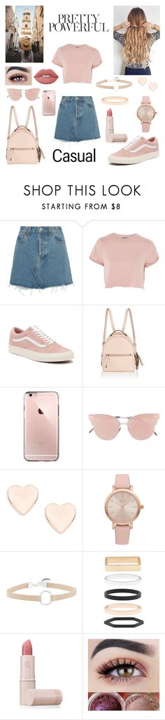"""casual travel style"" by blerina4 ❤ liked on Polyvore featuring RE/DONE, Topshop, Vans, Fendi, So.Ya, Ted Baker, Vivani, Witchery, Accessorize and Lipstick Queen"