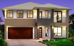 Kurmond Homes, New Home Builders Sydney. The design & building of your home is our passion, we strive for excellence with every home to maintain our quality home builders reputation. Dream House Exterior, Dream House Plans, Modern House Plans, Modern Houses, 2 Storey House Design, Two Storey House, Porches, Bungalow, Double Story House