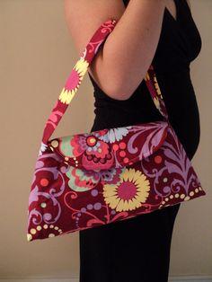 SALE sample sale sale mjcreation bag purse in amy buttler fabric. Flower Power Love $19