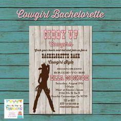 Western Cowgirl Bridal Shower Invitation Howdy cowboy Pinterest
