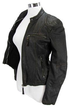 Edle Lederjacke im Bikerstile für Damen <3 Erhältlich auf marken-lederjacken.de #myjacketmylove