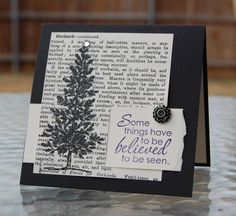 Black and Vanilla Christmas LMK by LindaKeal - Cards and Paper Crafts at Splitcoaststampers