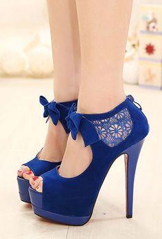 Bowknot Crochet Lace Peep Toe High Stiletto Heel Sandal