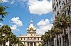 Home Page, City Hall, Bull Street, Historic District, Savannah GA