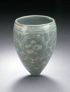 Cup with Inlaid Clouds and Scroll Design Goryeo dynasty 12th century From the LA County Museum of Art.