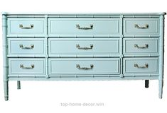 Superb Aqua Faux-Bamboo Dresser – who knew? All we need is Ben Moore Antiguan Sky paint and we can triple the price! The post Aqua Faux-Bamboo Dresser – who knew? All we need is Ben Moore ..