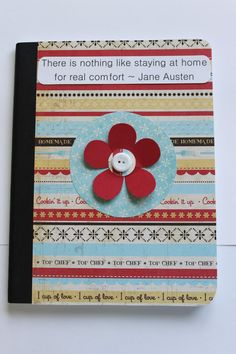 Customized Composition Notebook in Red and by TheGreenDoorCottage, $9.00
