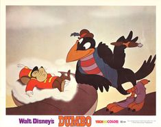 DUMBO original glossy lobby card DISNEY 11x14 movie poster TIMOTHY Q. MOUSE