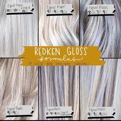 Redken Color Formulas, Hair Color Formulas, Ash Blonde Hair, Blonde Color, Nuances Redken, Redken Toner, Redken Hair Color, Redken Hair Products, Hair Toner