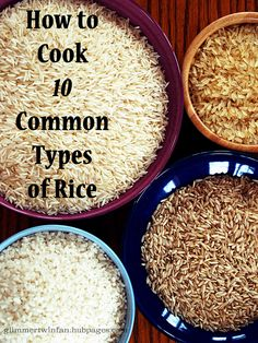 How to Cook 10 Common Types of Rice