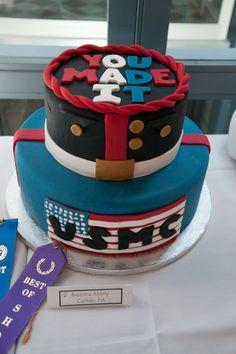 Marine Corps graduation cake - awesome!