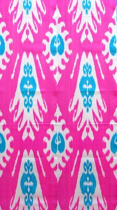 Hot pink ikat - have these pillows with brown !