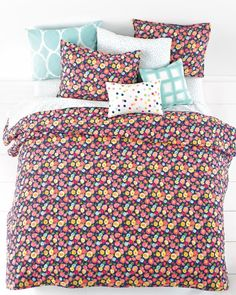This quilt is a vibrant twist on traditional florals.Shop the Look at Macy's
