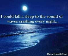 I could fall asleep to the waves crashing every night