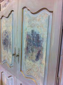 Maison Decor: Using Transfer Gel ~ an Armoire Makeover