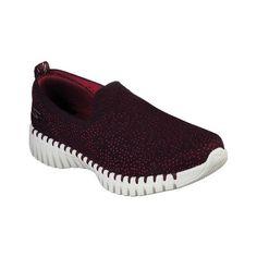3562ad39 Women's Skechers Go Walk Smart Slip-On Walking Shoe - Burgundy Walking Shoes