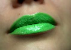 Bright Green Lipstick  Nourishing  Lime  All by FierceMagenta, $8.00