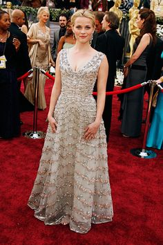 Reese Witherspoon in Vintage Christian Dior at 2006 Academy Awards