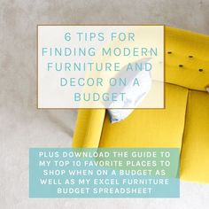 6 Tips for finding modern home furniture and décor on a budget (part 1 of Urban Interior Design, Contemporary Interior Design, Modern House Design, Interior Designing, Modern Home Furniture, How To Clean Furniture, Ikea Furniture, Modern Bohemian, Bohemian Interior