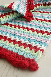 Ravelry: V-Stitch Placemat & Napkin Ring pattern by Susan Carlson
