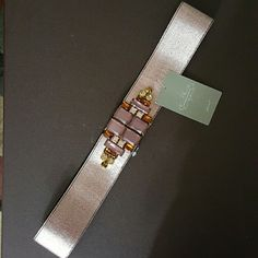 Anthropologie belt Ready for the holiday party? Belt with gems to accessorize any holiday party dress! Hook closure. Anthropologie Accessories Belts