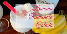 Banana Rumchata Colada Serves 2 A delicious tropical drink using Rumchata Ingredients 1 banana 2 ounces rum or banana rum 4 ounces Rumchata 4 ounces cream (or coconut milk) 1 cup of ice Banana and Cherry for garnish Alcoholic Drinks Rum, Rumchata Drinks, Rumchata Recipes, Party Drinks Alcohol, Liquor Drinks, Alcohol Drink Recipes, Dessert Drinks, Cocktail Drinks, Fun Drinks