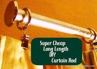 Super Cheap, DIY Long Length Curtain Rod