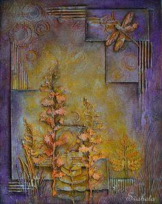 Natalya duvarındaki resimler Canvas Collage, Diy Canvas Art, Collage Art, Art Journal Pages, Art Pages, Mixed Media Canvas, Mixed Media Art, Mixed Media Techniques, Pressed Flower Art