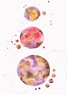 BOHO Watercolour MOONS by Karolina Szaturska