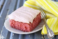 Strawberry Sheet Cake recipe from @southernbite - The cake is light and fluffy, but super moist and the icing is the perfect sweetness.