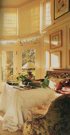 beautiful sunny bedroom ...