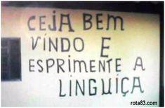 Placas diversas com erros de português