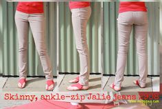 meggipeg: Skinny Jalie jeans with ankle zips