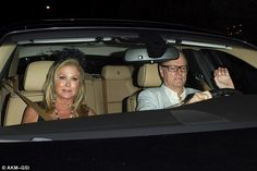 A who's who of socialite royalty: Kathy and Richard Hilton were also at the event...