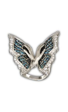 Ring Mariposas big SO 1772.2     White Gold 18KT and pavé diamond #Magerit #VersaillesCollection #jewels