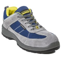 Παπούτσια Ασφαλείας – Ανδρικά - Γυναικεία, παπούτσια Ανατομικά, Αδιάβροχα, Αντιολισθητικά, Αντιστατικά, με ασφάλεια πέλματος και δακτύλων (S1P, S3, S3SRC) και ακόμα μεγαλύτερη ποικιλία σε παπούτσια αθλητικά με ασφάλεια, καθώς επίσης και παπούτσια ελαφριά εργασίας σε μοναδικές τιμές μόνο στην Pegasosafety Θεσσαλονίκη.  Τα Παπούτσια Εργασίας LEAD (S1P SRC) ESD 9LEAL Coverguard σε γκρί χρώμα, διαθέτει δερμάτινο το επάνω μέρος με μπλε υφασμάτινη επένδυση υψηλής αντοχής. Sneakers, Perforation, Shoes, Products, Fashion, Raincoat, Duty Boots, Work Flats, Soft Leather