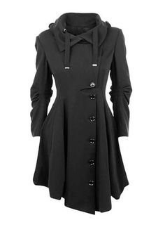 Looking for ETCYY Women's Black Button Asymmetrical Winter Long Trench Jackets Coat ? Check out our picks for the ETCYY Women's Black Button Asymmetrical Winter Long Trench Jackets Coat from the popular stores - all in one. Looks Style, My Style, Basic Style, Coatdress, Winter Mode, Fashion Outfits, Womens Fashion, Cheap Fashion, Latest Fashion