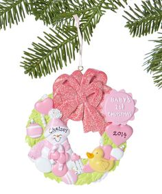 Loving this Pink 'Baby's 1st Christmas' Personalized Ornament on #zulily! #zulilyfinds
