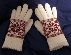 Ravelry: Morpid's Red & White gloves