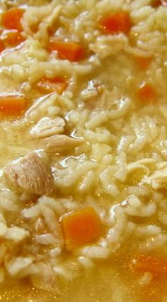 Pressure Cooker Chicken and Rice Soup                              …