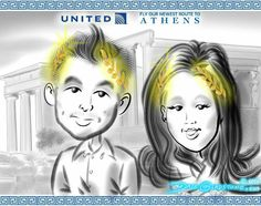 Check out #caricatures @ #UnitedNYPenn & all new flights from EWR https://facebook.com/caricature.artist.nyc  http://Caricature.social