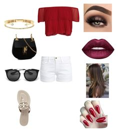 """""""Untitled #1788"""" by glamor234 on Polyvore featuring Keepsake the Label, Frame, Tory Burch, Chloé, Prada, Delfina Delettrez and Lime Crime"""