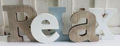 California Seashell Company Retail - Relax Word Block, $19.99 (http://www.caseashells.com/relax-word-block/)