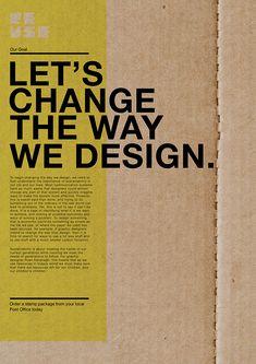 Diseños de folletos hechos de cartón; un gran ejemplo de diseño sustentable