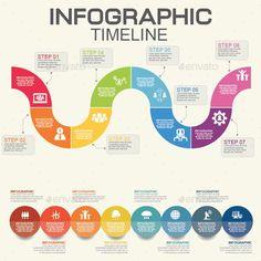 Infographics Timeline Template Vector EPS, AI Illustrator