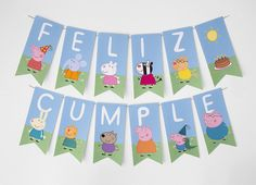 ideas party decoracion ideas birthday peppa pig for 2020 Peppa Pig Y George, George Pig Party, Peppa Pig Gratis, Cumple Peppa Pig, Peppa Pig Birthday Cake, Pig Character, Baby Party, Birthday Parties, Ideas Para