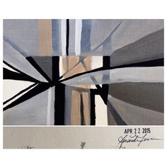 April 22, 2015 (4x6) original painting signed and dated on the back #amoriedailypainting #art #line #monochromatic #neutral #design #geometric