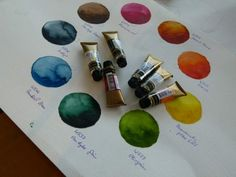 Die ausgewählte Palette von Mijello Aquarell Farben (c) Frank Koebsch